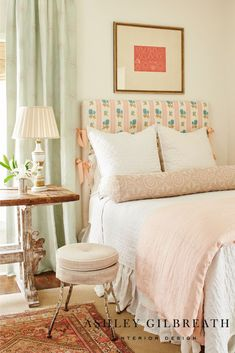 ASHLEY GILBREATH INTERIOR DESIGN: We love this robin's egg blue and pink color combo for a girl's room. Pattern play and antiques give the room a whimsical but sophisticated look, perfect for transitioning from little girl to tween. Home Bedroom, Girls Bedroom, Bedroom Decor, Design Bedroom, Bedroom Ideas, Little Girl Rooms, Guest Bedrooms, Guest Room, Beautiful Bedrooms