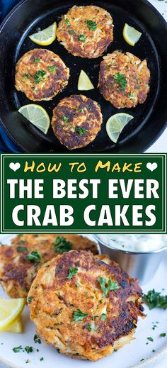 30 minutes · Serves 8 · Homemade Maryland Style Crab Cakes are flavorful and perfectly crisp. These crab cakes are made with jumbo lump meat, mayonnaise, mustard, and tons of seasonings! You can make them one of three ways… More Cooking Recipes, Healthy Recipes, Keto Recipes, Healthy Eats, Healthy Foods, Snack Recipes, Homemade Crab Cakes, Maryland Style Crab Cakes, Dinner Party Recipes