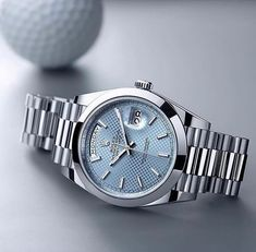 Rolex Oyster Perpetual Day Date. Beautiful, stylish, stable in value. A lifetime companion.