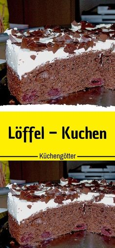 Löffel – Kuchen 😍 Ingredients 3 egg (s) 12 tbsp oil 12 tbsp sugar (or rather less) 1 tbsp vanilla sugar 12 tbsp flour 1 tbsp baking powder 3 tbsp cocoa powder or kaba (does not get so dark) glass Keto Desserts, Pudding Desserts, Apple Desserts, Dessert Blog, Apple Cake Recipes, Vanilla Sugar, Biscuit Recipe, Mousse, Pastel