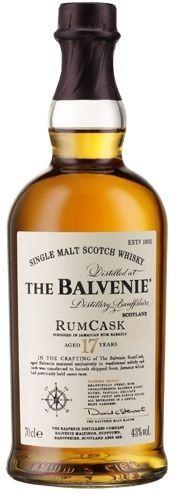 The Balvenie Rum Cask 17 year Scotch Whiskey.