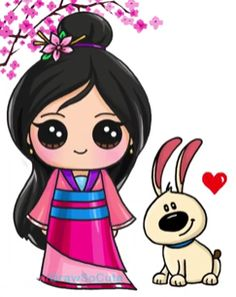 16 New Ideas For Drawing Ideas Disney Mulan Kawaii Disney, 365 Kawaii, Arte Do Kawaii, Kawaii Art, Cute Disney, Disney Art, Kawaii Girl Drawings, Cute Girl Drawing, Disney Drawings