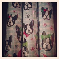 Boston Terrier wrapping paper!
