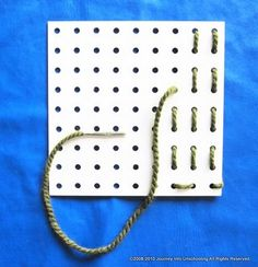 Peg Board Lacing