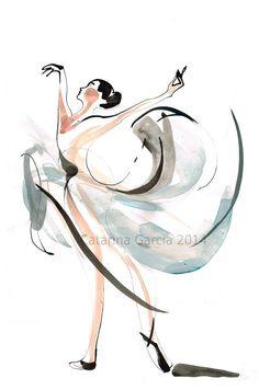 Dansen tekening serie Ballet Print van CatarinaGDrawing op Etsy