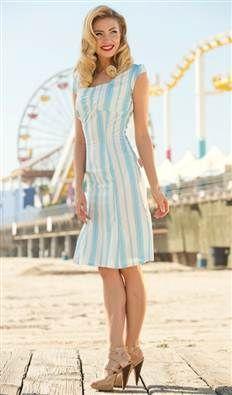 Summer Days Mad Mens style dress Pier Patrol $88.00 Buy at: Shabby Apple More at : http://www.vintagedancer.com/1960s/