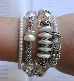 charm bracelet multi strand bracelet wedding by soulfuledges