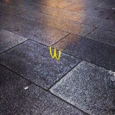 McDonalds emblem reflection