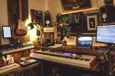 """Installing a sliding piano """"drawer"""" in a home studio - Album on Imgur"""