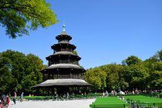 Der Chinesische Turm Karl Valentin, Bavaria, Munich, Pisa, Statue Of Liberty, Germany, Tower, Building, Travel