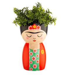 Buy the Frida Body Shaped Vase from our stunning Planters & Vases collection at Red Candy, the home of quirky decor! Flower Vases, Flower Pots, Painted Pots, Hand Painted, Mini Vase, Face Planters, Pot A Crayon, Sass & Belle, Quirky Decor