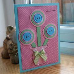Flower Vase - Mothers Day Card