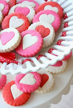 Two-Tone Heart Cookies is a kid friendly treat to make at home.