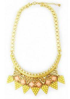 Arrow bead statement necklace! https://belleboutiquenwa.com/accessories/jewelry/arrow-bead-necklace-9498.html #beadnecklace #statementnecklace #coral #summerjewelry #accessories #xoxoBelle
