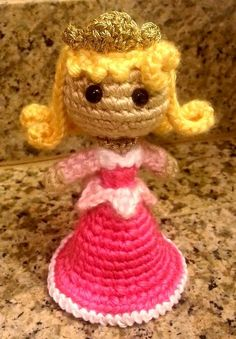 Aurora The Sleeping Beauty Amigurumi Crochet Doll  This was harder than it looked! Pattern by Sahrit