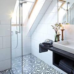 Top Loft Conversion Ideas That Will Transform Your Attic - Shower Room in Your Attic Loft Ensuite, Loft Bathroom, Bathroom Layout, Bathroom Interior Design, Bathroom No Window, Bathroom Suites Uk, Master Bathroom, Bathroom Ideas Uk, Skylight Bathroom