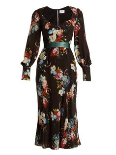 Erdem Berdine sweetheart-neck silk midi dress