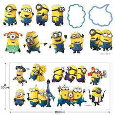 Nursery Décor Active Despicable Me Minions 3d Window Scene Wall Decals Removable Stickers Kids Decor