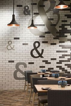 Jimbo & Rex, Crown Casino, Mim Design Handmade tiles can be colour… Australian Interior Design, Interior Design Awards, Restaurant Interior Design, Cafe Interior, Interior And Exterior, Restaurant Interiors, Interior Ideas, Mim Design, Cafe Design