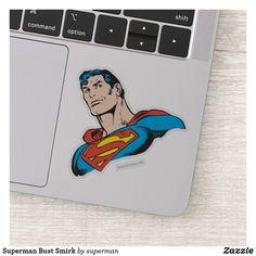 Superman Bust Smirk Sticker #superman  #zazzle #afflink