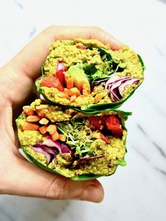 These Raw Collard Green Wraps with Curry Sunflower Seeds is a super healthy, crunchy lunch you can make ahead that will leave you feeling fresh & energized.
