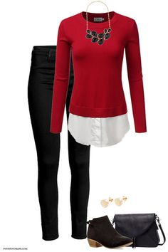 Celebrate the holidays in style! Visit outfitsforlife.com for links to find each item pictured and for even more great outfit inspo! #outfits #ootd #holidays #christmasparty