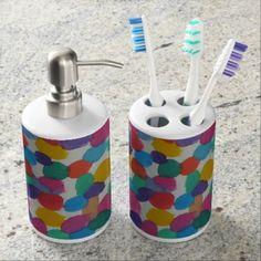 Rainbow Dots Bath Set - home gifts cool custom diy cyo