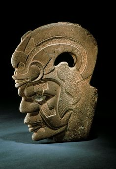"Anthropomorphic ""hacha"" (axe), Central Veracruz, Middle to Late Classic (500-900 A.D.) - Stone - National Museum of Anthropology, Mexico // Photo © Jorge Pérez de Lara"