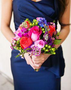 WeddingChannel Galleries: Multicolor Bridesmaid Bouquet