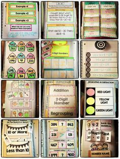 Interactive Notebook - 2nd Grade Numbers and Operations in Base Ten Bundle....flippable, foldable fun for all 9 Common Core Standards in the Numbers and Operations in Base Ten domain for 2nd grade. Great way to engage students in learning place value and addition/subtraction concepts! $
