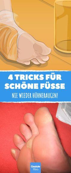 Mit diesen 4 einfachen Tricks musst du dich nie mehr schämen, deine Füße zu zeigen! #diy #tipps #tricks #gesundheit #körper #fuß #weich #schön #pflege #hornhaut #hühneraugen #essig #vitamine #zitrone #peeling #zwiebel #öl #aspirin #bittersalz