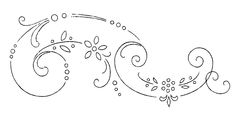 borders flower embroidery or redwork