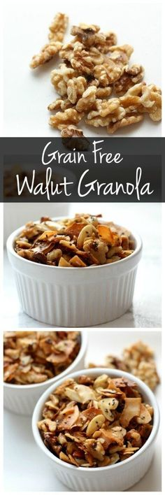 This grain free walnut granola is sweet, crunchy, and full of healthy fats & protein. It's gluten free, vegan, and easy to make!