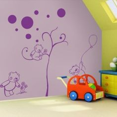 Bears Family - Nursery wall Decal - Couture Déco