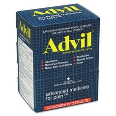 Acme United Advil Pain Reliever Refills - Headache, Muscular Pain, Backache, Arthritis - 50 / Box (3 pack) * Be sure to check out this awesome product.