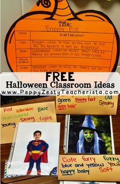 Halloween Blog Hop. FREE halloween classroom ideas by a group of teachers! Pin now save for later!