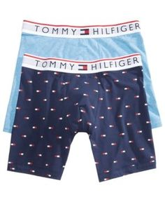 Tommy Hilfiger Men's 2-Pk. Modern Essentials Boxer Briefs - Blue 2XL