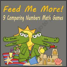 Comparing and Ordering Numbers Math Centers (Common Core /Go Math ) Teaching First Grade, First Grade Teachers, 1st Grade Math, Teaching Math, Teaching Tools, Teaching Ideas, Math Classroom, Kindergarten Math, Classroom Ideas