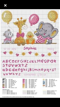 Risultati immagini per cross stitch baby Baby Cross Stitch Patterns, Cross Stitch For Kids, Cute Cross Stitch, Cross Stitch Alphabet, Cross Stitch Animals, Cross Stitch Charts, Cross Stitch Designs, Baby Embroidery, Cross Stitch Embroidery