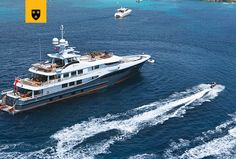 The most customized Amels Limited Editions to date, ENGELBERG has been designed to perfectly meet her Owner's needs. Advanced personal communications systems, a unique aft deck layout, and a charcoal grey hull with a hint of orange make this yacht a true original. She features a stunning interior design by Enzo Enea, who blended the Mediterranean environment into the yacht's interior décor. Engelberg, Communication System, Super Yachts, Interior Decorating, Interior Design, Deck, Environment, Racing, The Originals