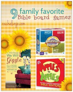 What's making your family giggle together? at our house- it's board games! Take a peek at our favorite Bible board games and see if yours made the list!