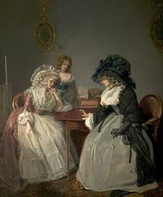 'The Widow's Tale', John Raphael Smith, circa Derby Museums and Art Gallery 35828 Rococo, Baroque, Portraits, Portrait Art, Gold Class, 18th Century Costume, 18th Century Fashion, Old Paintings, Art Uk