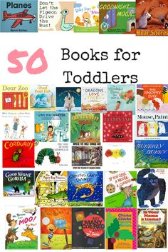50 Of The Best Books For Toddlers // Early Learning // Toddler Books // Preschool // Classic Children's Books // Home Library www.gritsngrace.com