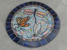 Beautiful mosaic stepping stone.