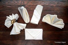 Fancy napkin folding techniques, y'know, if you're fancy!
