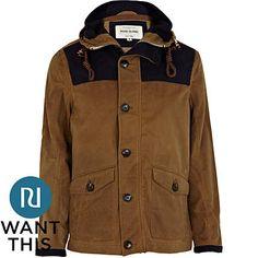 Light brown contrast hooded jacket - jackets - coats / jackets - men