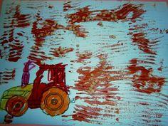 Προσχολική Παρεούλα : Πρωί σαν ξημερώσει ... ο γεωργός το χωράφι θα οργώσει . Education, Box, Plants, How To Make, Kids, Painting, Children, Snare Drum, Painting Art