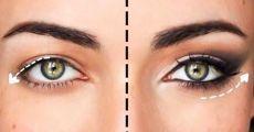 Il trucco con un effetto ringiovanente! Una volta imparato questo trucco, ho cominciato a dipingere gli occhi completamente diversi ...