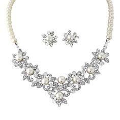 Sansa Pearl Necklace Set