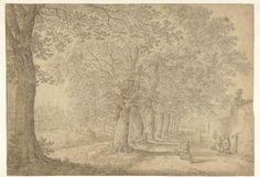 Gezicht op Onder de Linden (Nieuwe Gracht) te Utrecht, Herman Saftleven, 1619 - 1685